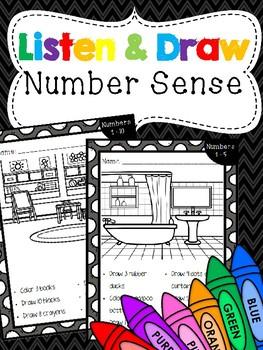 Listen & Draw Number Sense Art Projects