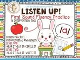 Listen Up! First Sound Fluency Practice RTI & DIBELS Inter