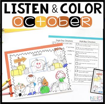 Listen and Color October: A Listening Comprehension Activi