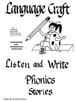Listen and Write Phonics Stories Grades K-3
