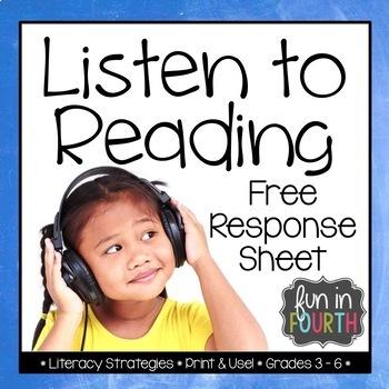 Listen to Reading Response Sheet Freebie