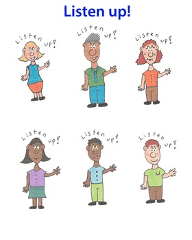 Listen up! Cartoon clip art