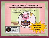Listen with your Brain – Active Listening Tasks for Upper Grades