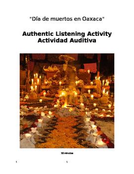 Listening Activity Día de los Muertos en Oaxaca