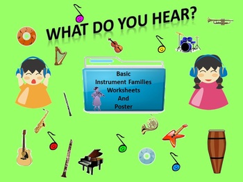Listening Activity Worksheets: Basic Instrument Families a