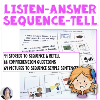 Listening Answering Sequencing Telling Listening Skills fo