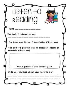 Listening Center Activity - Listen to Reading