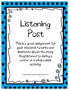Listening Center Comprehension Check Activity