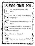 Listening Center Comprehension Roll - Listen to Reading