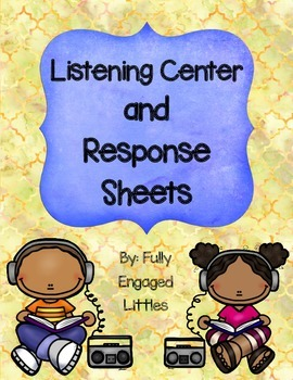 FREE- Listening Center Directions and Response Sheets