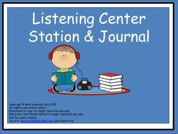 Listening Center Journal cut and paste Interactive Notebook
