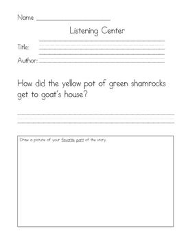 Listening Center Response - Green Shamrocks by Eve Bunting