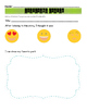 Listening Center Response Sheets with EMOJIS