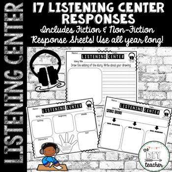 Listening Center Response Sheets (Fiction & Non-Fiction)