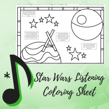 """Listening Coloring Map - Music Strikes Back """"Star Wars"""" Edition"""