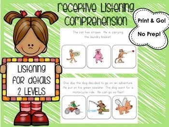 Listening Comprehension (Receptive)- 2 Levels