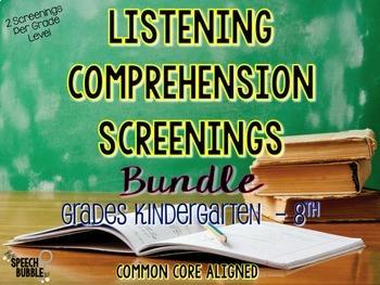 Listening Comprehension Screenings Bundle