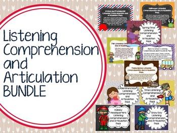 Listening Comprehension and Articulation BUNDLE