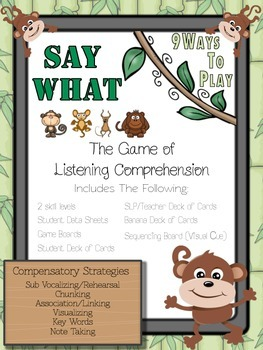 Listening Comprehension and Auditory Memory - Say What?! M