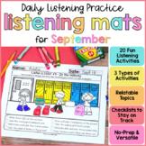 Back to School Listening Activities