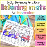 November Listening Activities