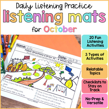Listening Practice Mats for October