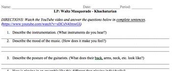 Listening Protocol (LP) Guitar Ensemble Waltz Masquerade b