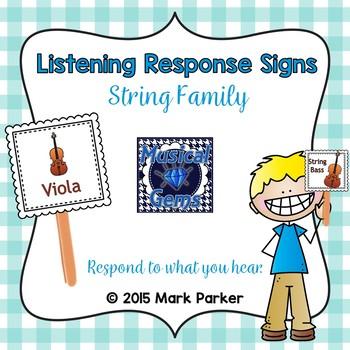 Listening Response Signs - Strings