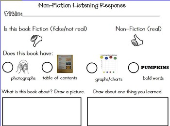 Fiction and Non Fiction Listening Response