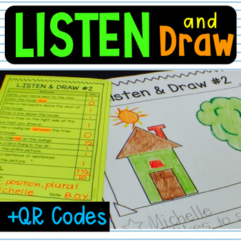 Listen and Follow Directions Brag Tag  QR Code Data Tracker