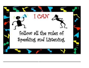 """Common Core Listening & Speaking """"I Can Posters"""" (Lightning)"""