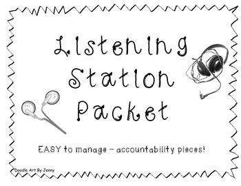 Listening Station Comprehension Worksheets