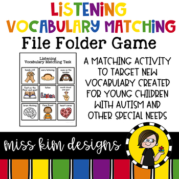 Listening Vocabulary Folder Game for students with Autism