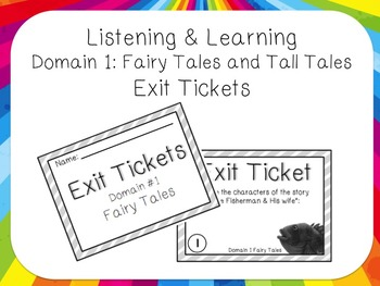 Listening and Learning Domain 1 Fairy Tales and Tall Tales