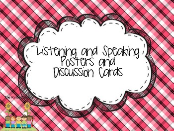 Listening and Speaking Discussions- based on the common core