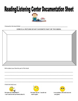 Listening/Reading Center Documentation Sheet