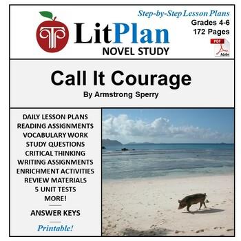 LitPlan Teacher Guide: Call It Courage - Lesson Plans, Que