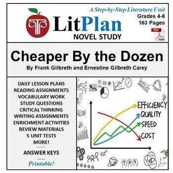 LitPlan Teacher Guide: Cheaper By The Dozen - Lesson Plans
