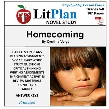LitPlan Teacher Guide: Homecoming (Voigt) - Lesson Plans,