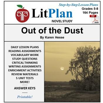 LitPlan Teacher Guide: Out of the Dust - Lesson Plans, Que