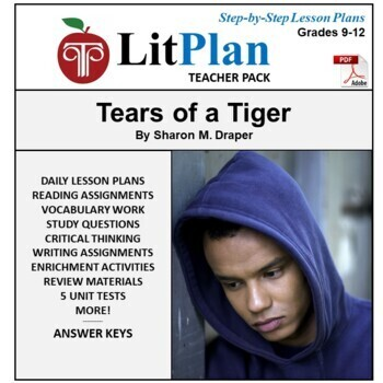 LitPlan Teacher Guide: Tears of a Tiger - Lesson Plans, Qu