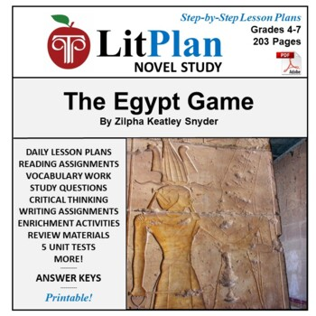 LitPlan Teacher Guide: The Egypt Game - Lesson Plans, Ques