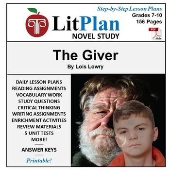 LitPlan Teacher Guide: The Giver - Lesson Plans, Questions, Tests