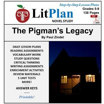 LitPlan Teacher Guide: The Pigman's Legacy - Lesson Plans,