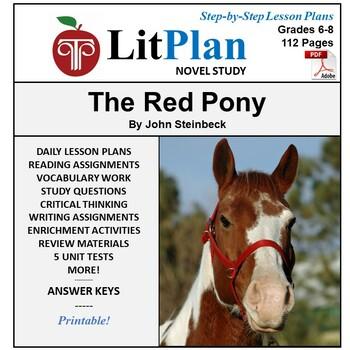 LitPlan Teacher Guide: The Red Pony - Lesson Plans, Questi