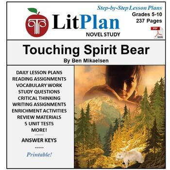 LitPlan Touching Spirit Bear - Lesson Plans, Activities, Q