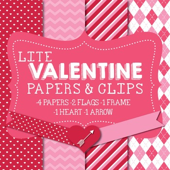 Lite Valentine's Papers & Clipart