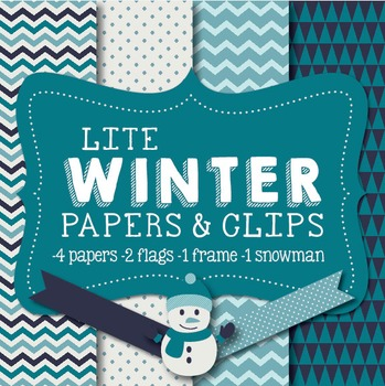 Lite Winter Papers & Clipart