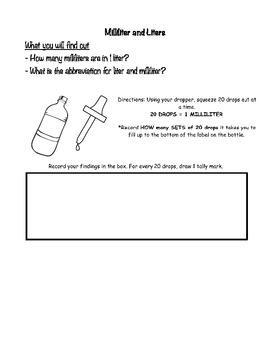 Liter and Milliter Conversion
