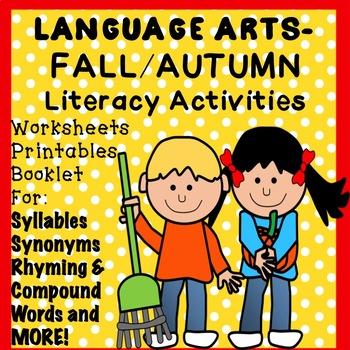 FALL, AUTUMN No Prep Literacy Activities, Worksheets, Printables